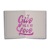 I give you all my love. Hand-lettering text . Handmade vector calligraphy for your design Royalty Free Stock Photos