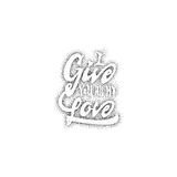I give you all my love. Hand-lettering text . Handmade vector calligraphy for your design dotwork Royalty Free Stock Photography