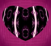 Abstract pattern of black heart. royalty free stock photo