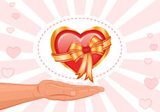 I give you my love! Stock Photography