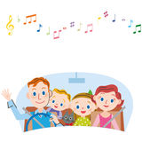 I go for a drive in families stock illustration