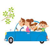 I go for a drive in, families Stock Images