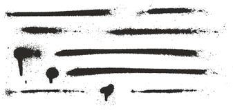 I gocciolamenti scarni eccellenti della pittura di spruzzo, i punti, linee e schizzano l'insieme 04 Immagine Stock