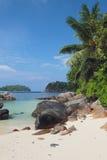 I golfen Anse Islette Port av Glod, Mahe, Seychellerna royaltyfria bilder