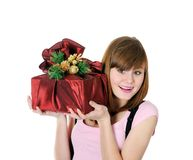 I got a gift Royalty Free Stock Photo