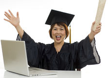 I got my degree on-line Royalty Free Stock Images