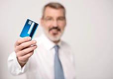 I got my new cash card ! Stock Photo