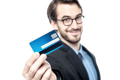 I got my new cash card ! Stock Image