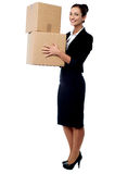 I got my parcels from courier. Stock Image