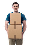 I got my parcels. stock images