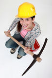I got a pickaxe Stock Photos