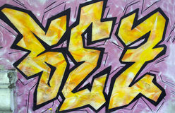 I graffiti Fotografie Stock