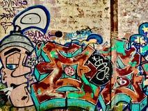I graffiti affrontano alla sigaretta fotografia stock libera da diritti