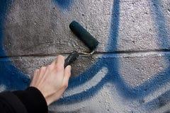 Particolare dei graffiti Fotografie Stock Libere da Diritti