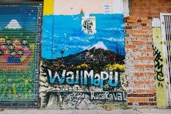 I graffiti murano a Barcellona Fotografie Stock