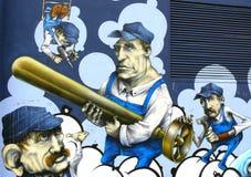 I graffiti murano l'arte urbana Fotografia Stock Libera da Diritti