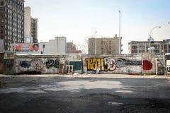 I graffiti murano in Manhattan Fotografia Stock