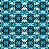 I graffiti senza cuciture astratti blu del modello addolciscono il colore Immagini Stock Libere da Diritti