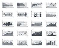 I grafici commerciali di informazioni del mercato finanziario traccia una carta del diagramma infographic della crescita di conce Fotografie Stock Libere da Diritti