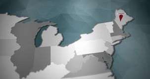 I grafici moderni di moto degli Stati Uniti tracciano - Augusta Pin Location Animation illustrazione di stock