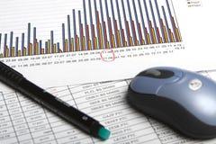 I grafici rinchiudono & mouse Immagine Stock Libera da Diritti