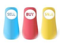 Grandi bottoni del negozio Immagini Stock