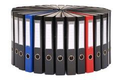 I grandi dispositivi di piegatura neri situati su un cerchio Fotografie Stock Libere da Diritti
