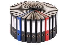I grandi dispositivi di piegatura neri situati su un cerchio Immagine Stock