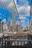 I grandi impianti del ponte di Brooklyn passato Immagini Stock