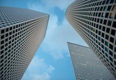 I grattacieli ed il cielo Fotografia Stock Libera da Diritti