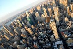 I grattacieli magnifici di Manhattan Immagine Stock