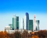 I grattacieli nel centro di Mosca Fotografie Stock