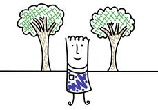 I grow trees Stock Images