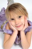 When I grow up. Little girl thinks about what she would like to be when she grows up Royalty Free Stock Photography