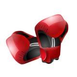 I guanti di Boxe hanno isolato Immagini Stock