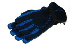 I guanti sono sui precedenti bianchi Immagini Stock Libere da Diritti