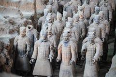 Guerrieri di terracotta di Xian Fotografia Stock