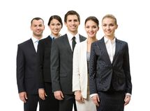 I halvfigur stående av gruppen av affärsfolk royaltyfri bild