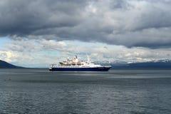 I hamnen av porten av Ushuaia Arkivfoto