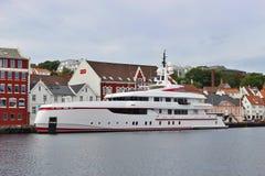I hamnen av Stavanger Norge Royaltyfria Bilder