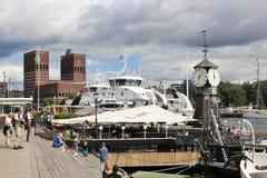 I hamnen Pipervika i Oslo huvudstad av Norge, Europa Royaltyfria Foton