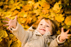 I am happy it is autumn Stock Images