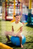 I am happy and cute little girl. stock photo