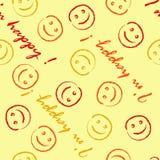 I am happy pattern Royalty Free Stock Photos