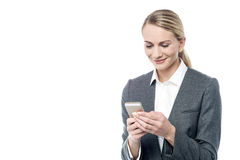 I am happy to see your text. Royalty Free Stock Image