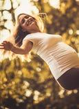 I am happy woman royalty free stock photography