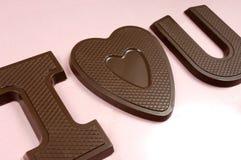 I Hart u het Suikergoed van de Chocolade Stock Fotografie