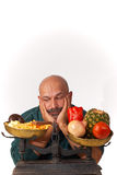 I hate diets. Guy is pretty fed up with his diet Royalty Free Stock Photos