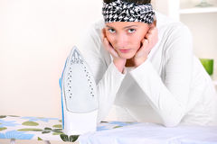 I hate ironing! Stock Photography