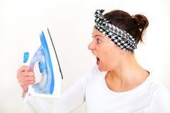 I hate ironing! Royalty Free Stock Photo